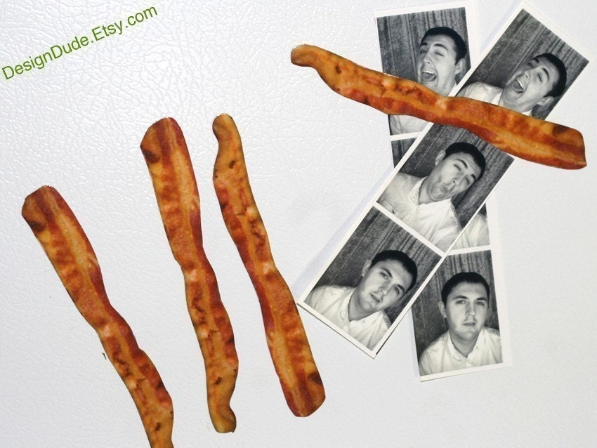 4 - Bacon Slices Magnets With FREE SHIPPING SALE