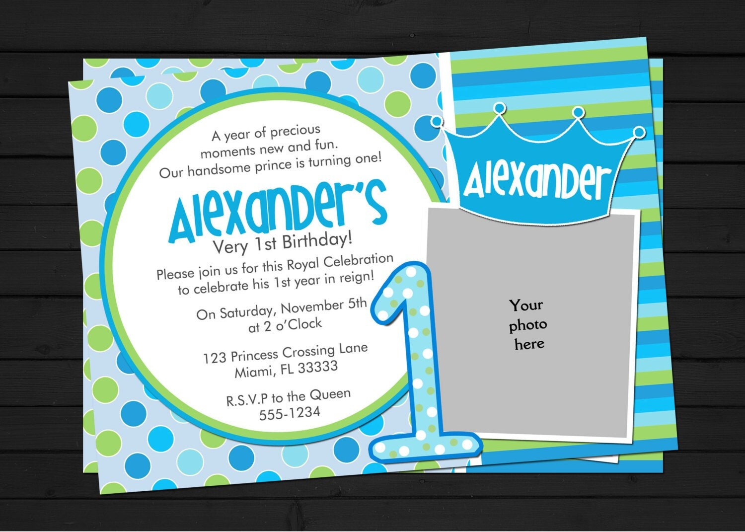 Little prince first birthday invitations - Thepix.info