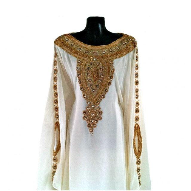 Amira Abaya Caftan Gold Embellished Kaftan Dress Kaftan Maxi Dress Dubai Kaftan Gold Beaded Wedding Evening Gown Plus Size S4XL