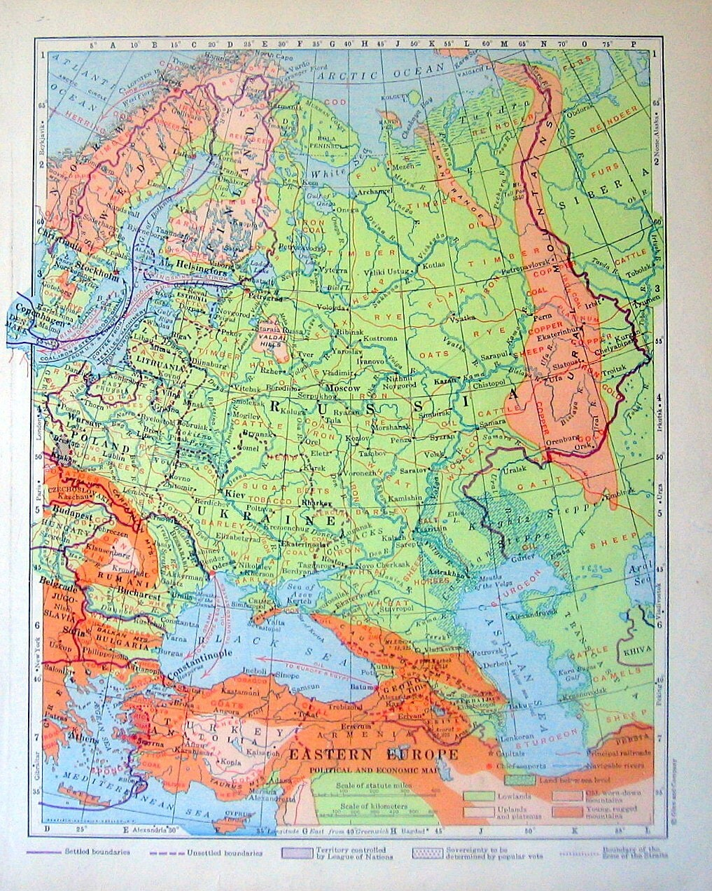 1920 Eastern Europe Political and Economic by mysunshinevintage