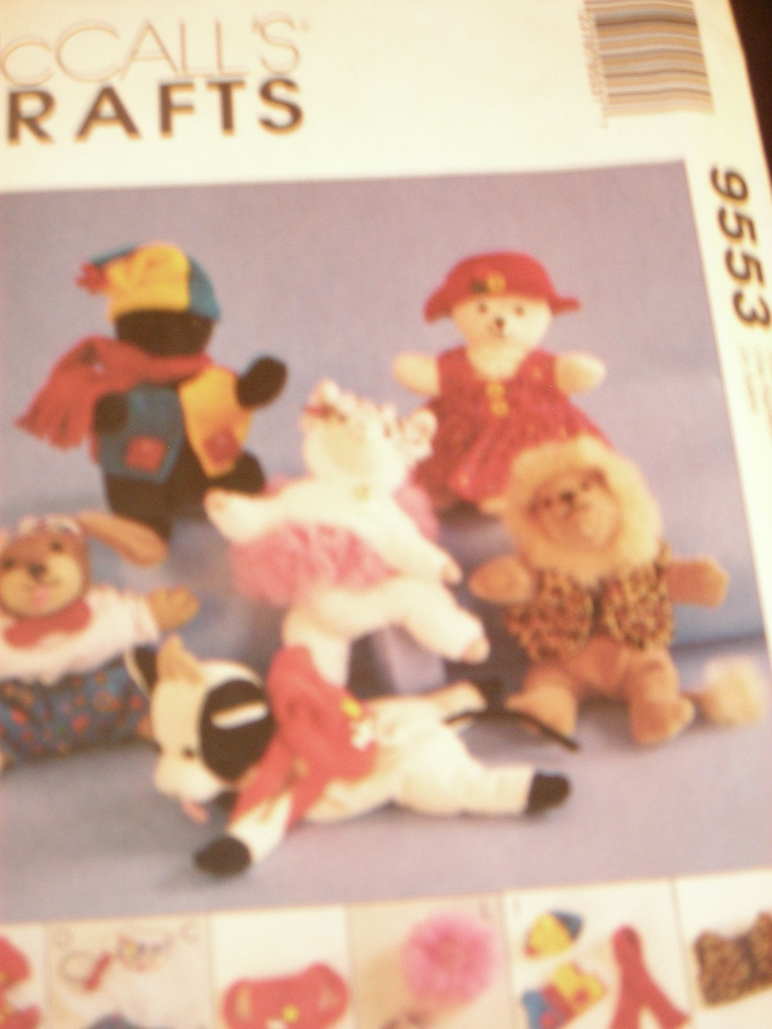 McCall's Pattern 9553 for Bean Bag Animal Clothes