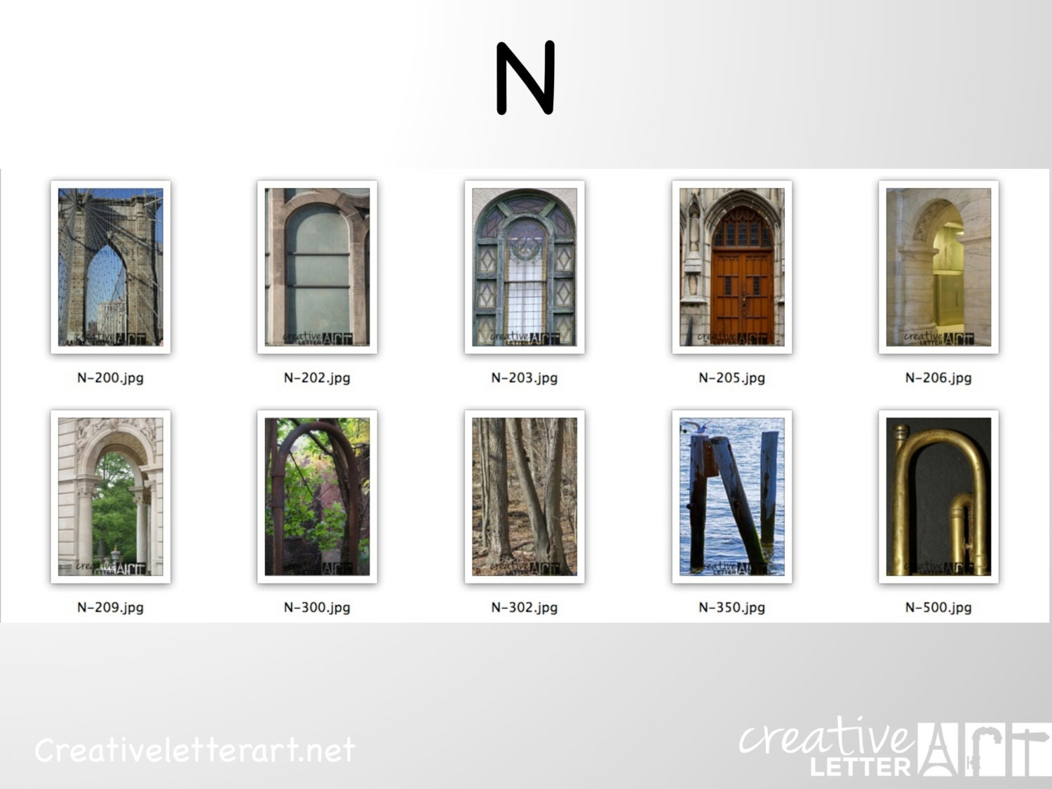 Letter art n 4x6 photograph print in nautical by for Last name pictures architecture