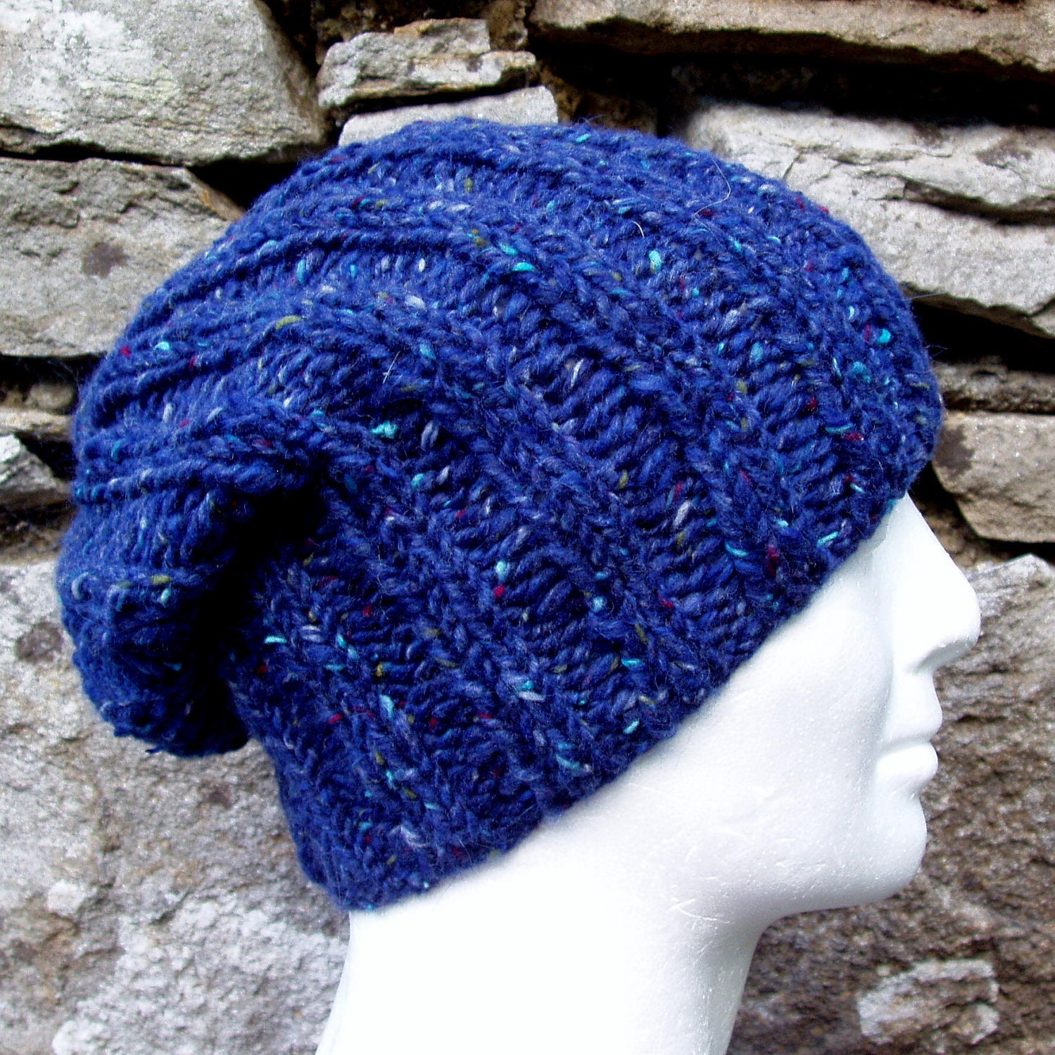 Knitting Pattern Hat In The Round : KNITTING PATTERN for SEATTLE Chunky Knit Ribbed Hat for ...