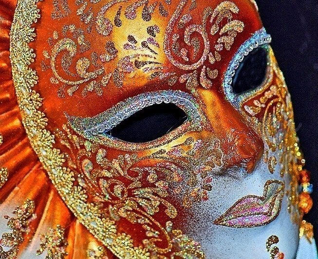 Venetian Carnival Mask by Linda Donnelly