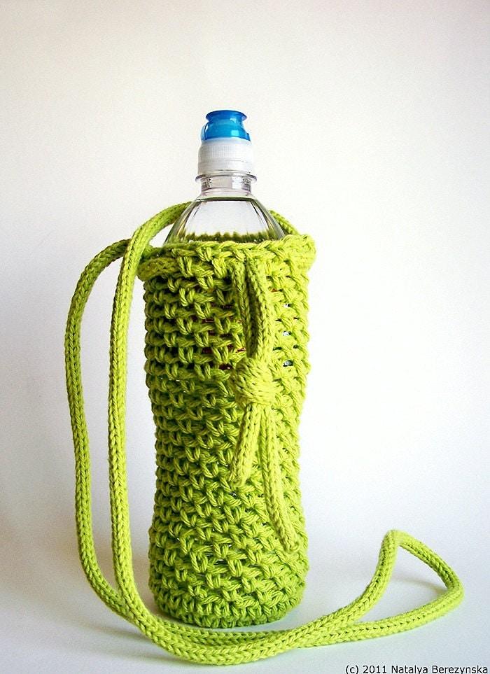 Lime Green Water Bottle Cozy Neon Grass Holder Sleeve Bag Bright Sports Bike Biking