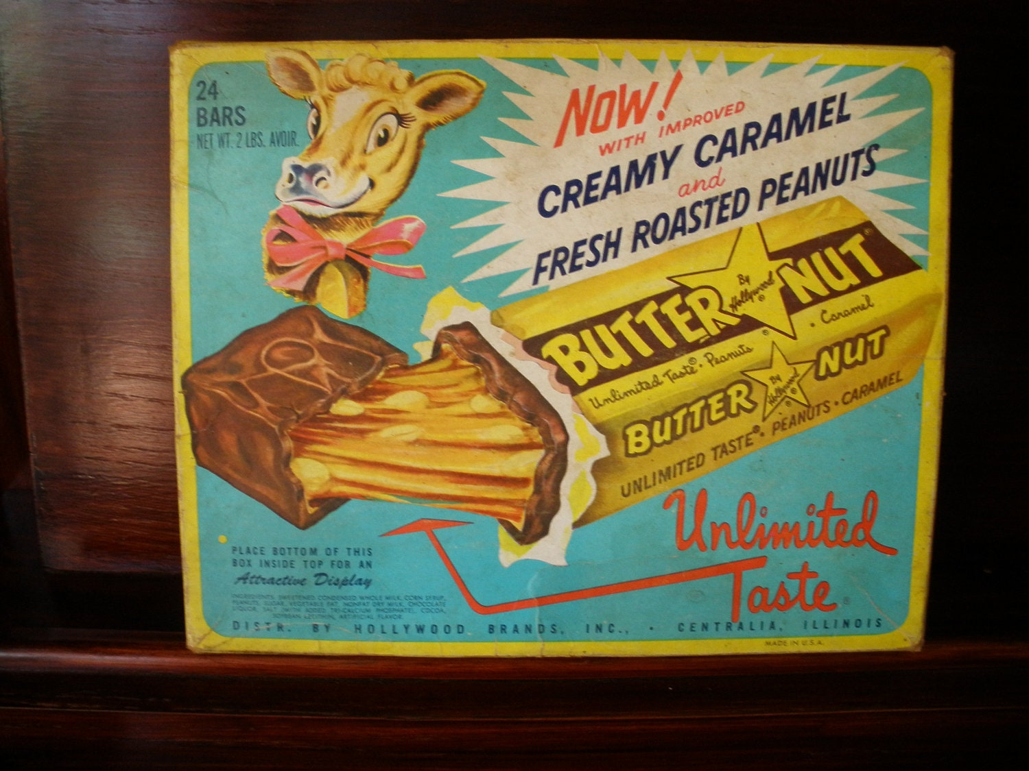 butter nut candy bar box 1960s advertising display by