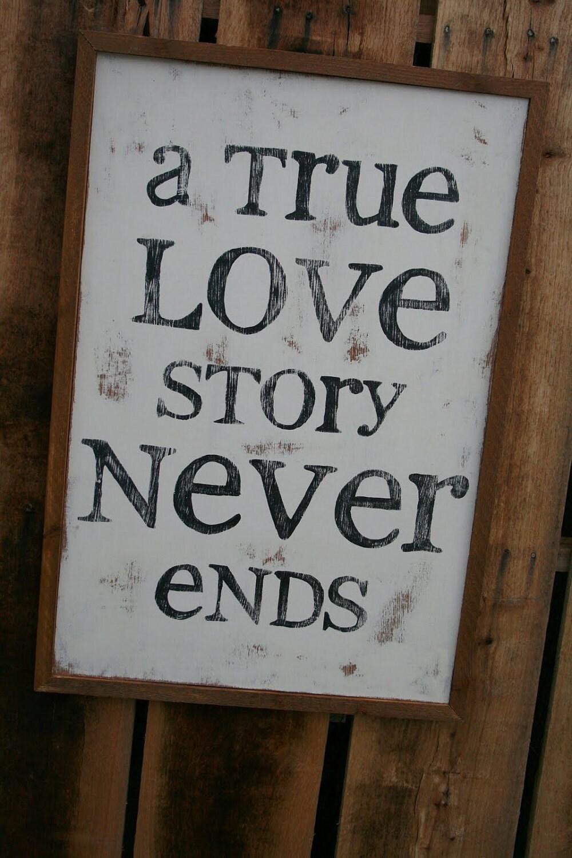 Custom Hand Painted ' True Love' Framed Sign