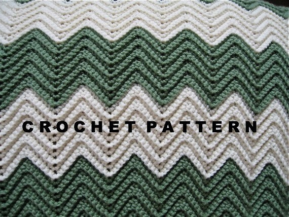 Free Pattern For Single Crochet Ripple Afghan : Crochet Pattern Acadia Ripple Blanket Afghan by NanaLetha