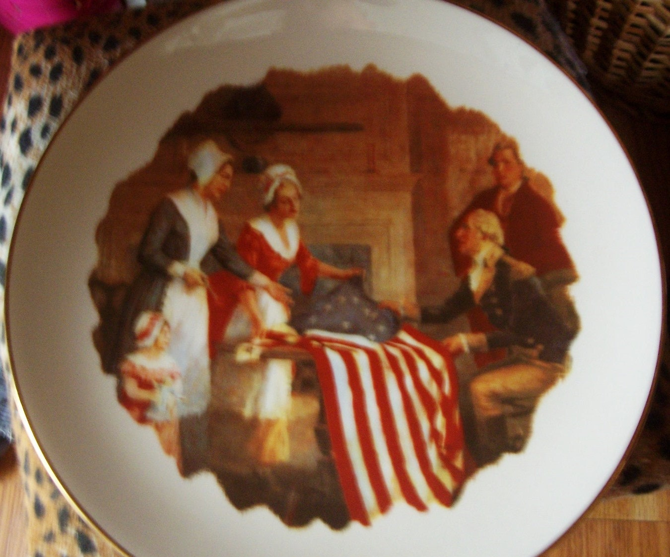 Vintage The Museum Collection Ridgewood China The First STARS And STRIPES 1777 #4176 of 9900 - WHISTLESTOPTRAINSHOP