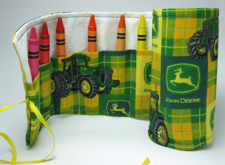 John Deere crayon roll