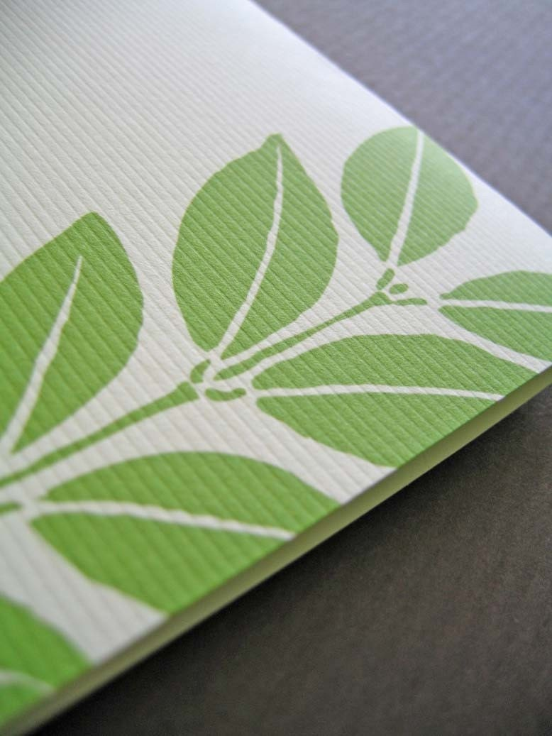 Rainforest Leaf - folded handmade card