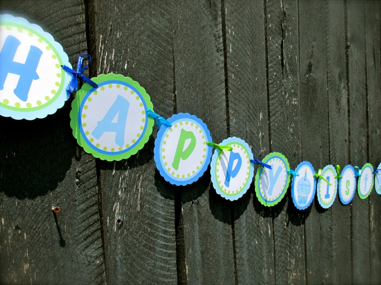 first birthday boy happy 1st birthday banner boy by