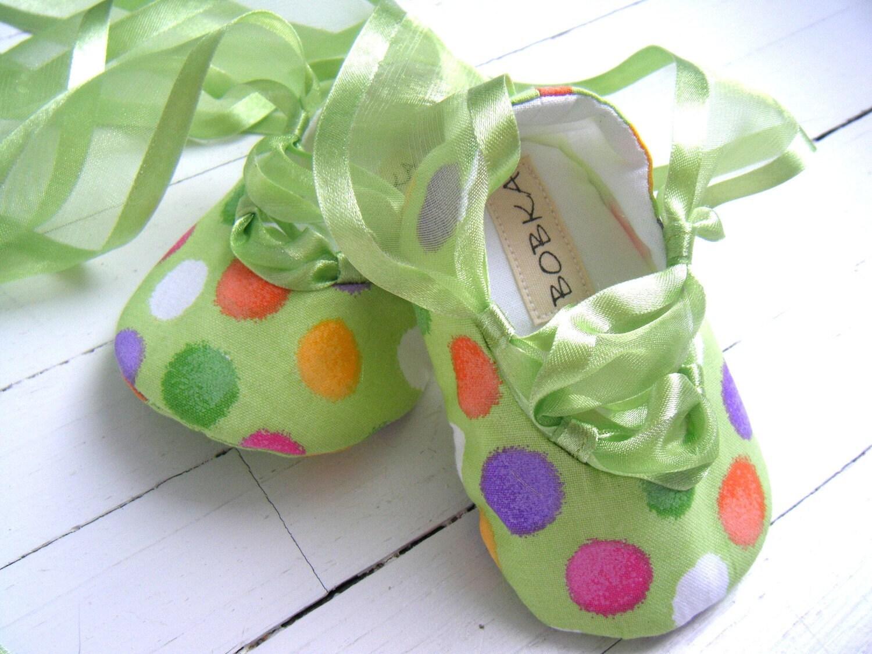 Fun зеленого яблока балета обуви для вашего ребенка девушка