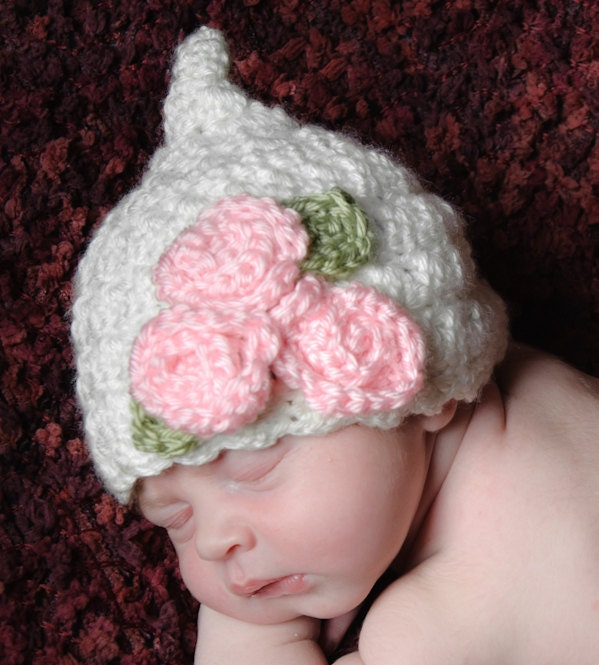 Crochet Pattern Baby Pixie Hat : INSTANT DOWNLOAD Crochet Pattern Kiss Me by PrettyDarnAdorable