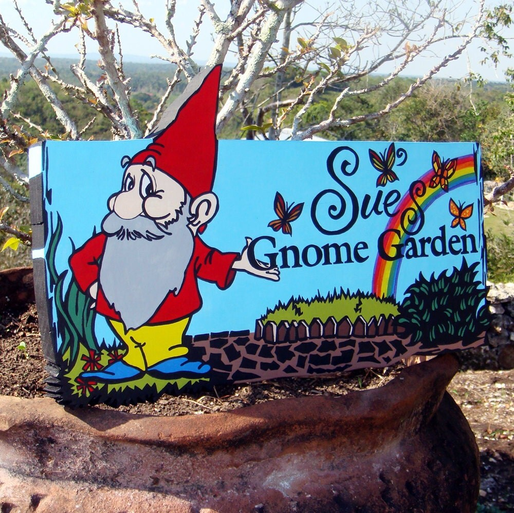 Items similar to custom garden sign with ground stake for Outdoor decorative signs