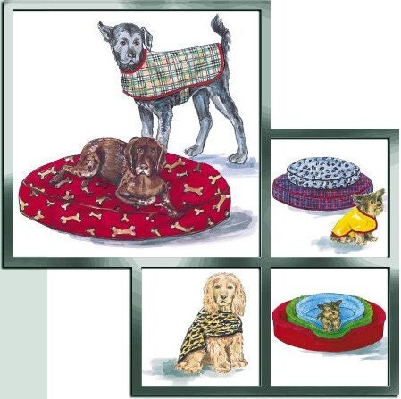 Sewing craft pattern: DOG CAT PET BEDS teepee tents |