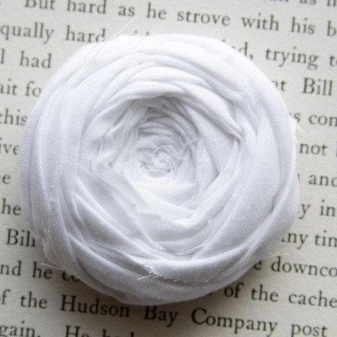 Crisp White Rosette Brooch Pin