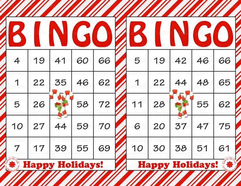 Blank Christmas Bingo Cards – Printable Editable Blank 2017