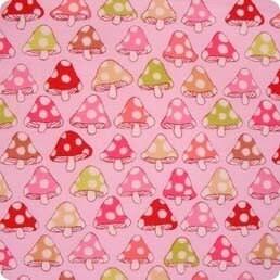 Alexander Henry's TOADSTOOLS in pink, 1 yard