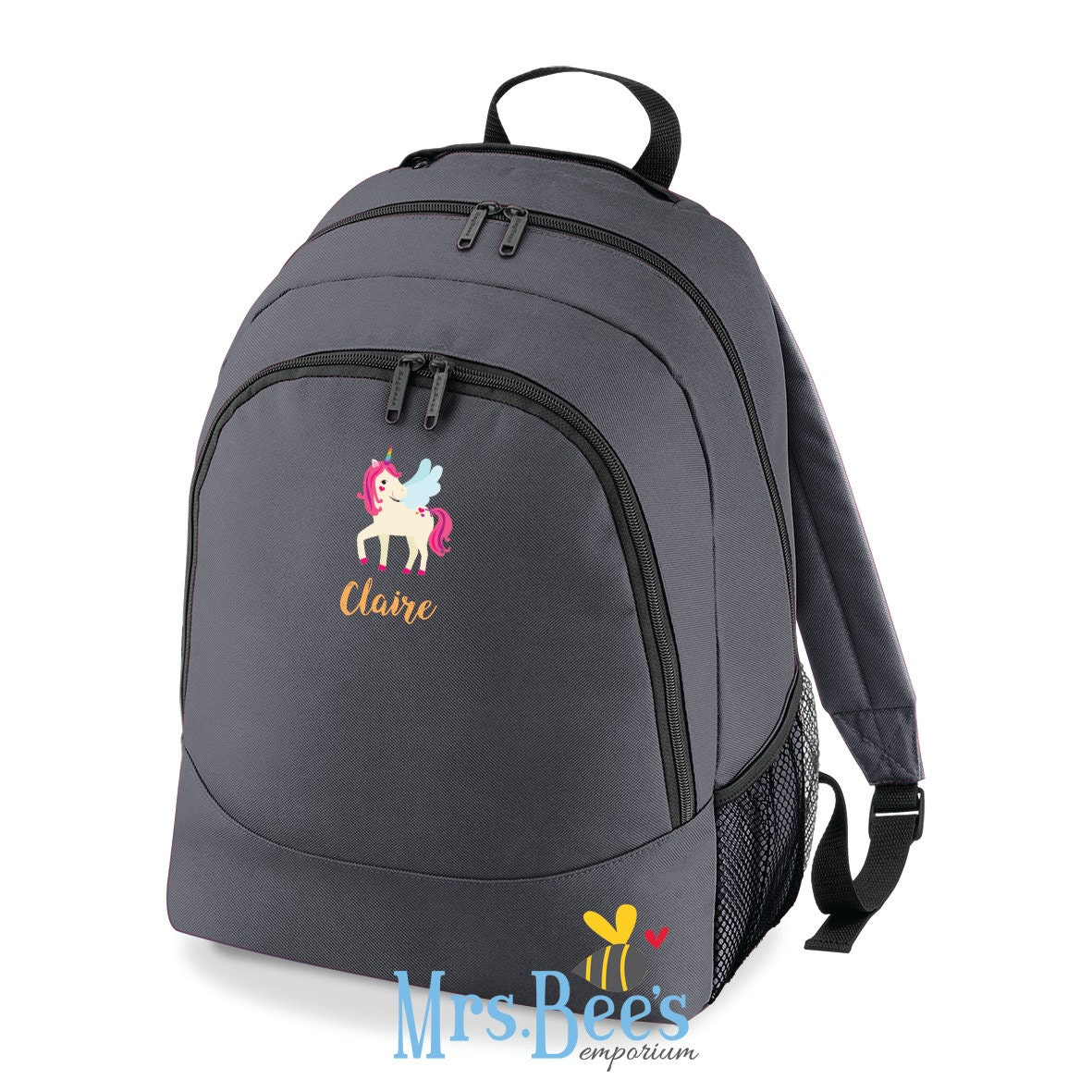 Personalised Kids Backpack  Childrens UnicornPrincess Rucksack Unique Gift for Young Child Back to School Nursery Rucksack