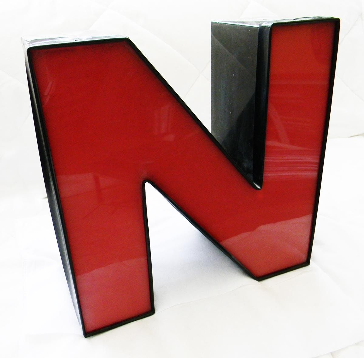 Vintage Art Deco Movie Theater Marquee Letter 'N'