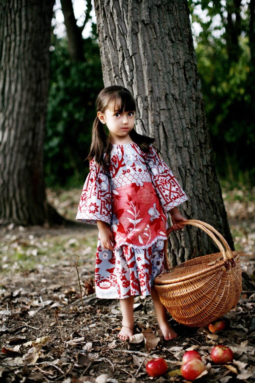 Little Red Riding Hood Apron Dress- Deer Valley prints