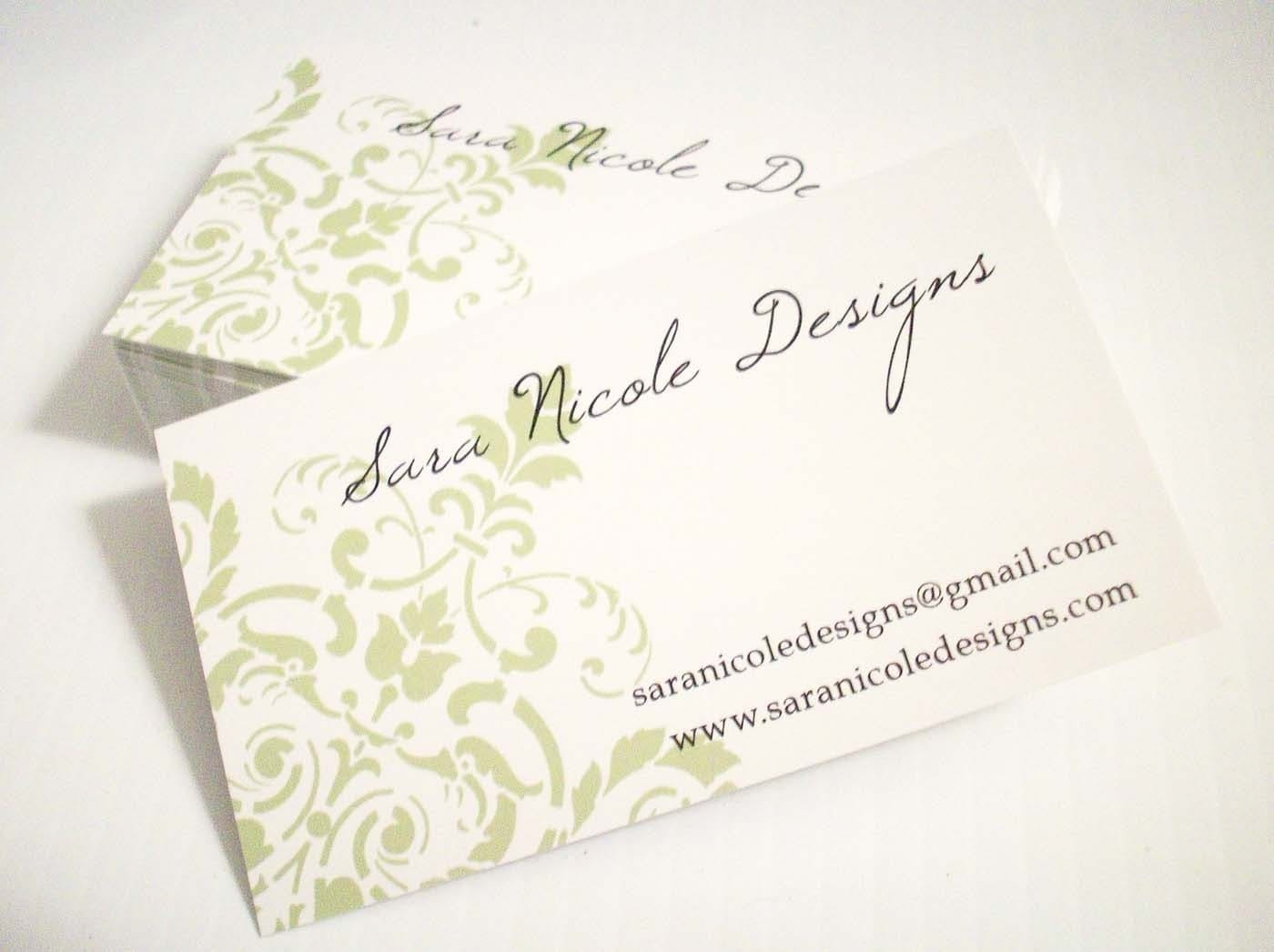 50 Corner Damask CUSTOMIZABLE business cards