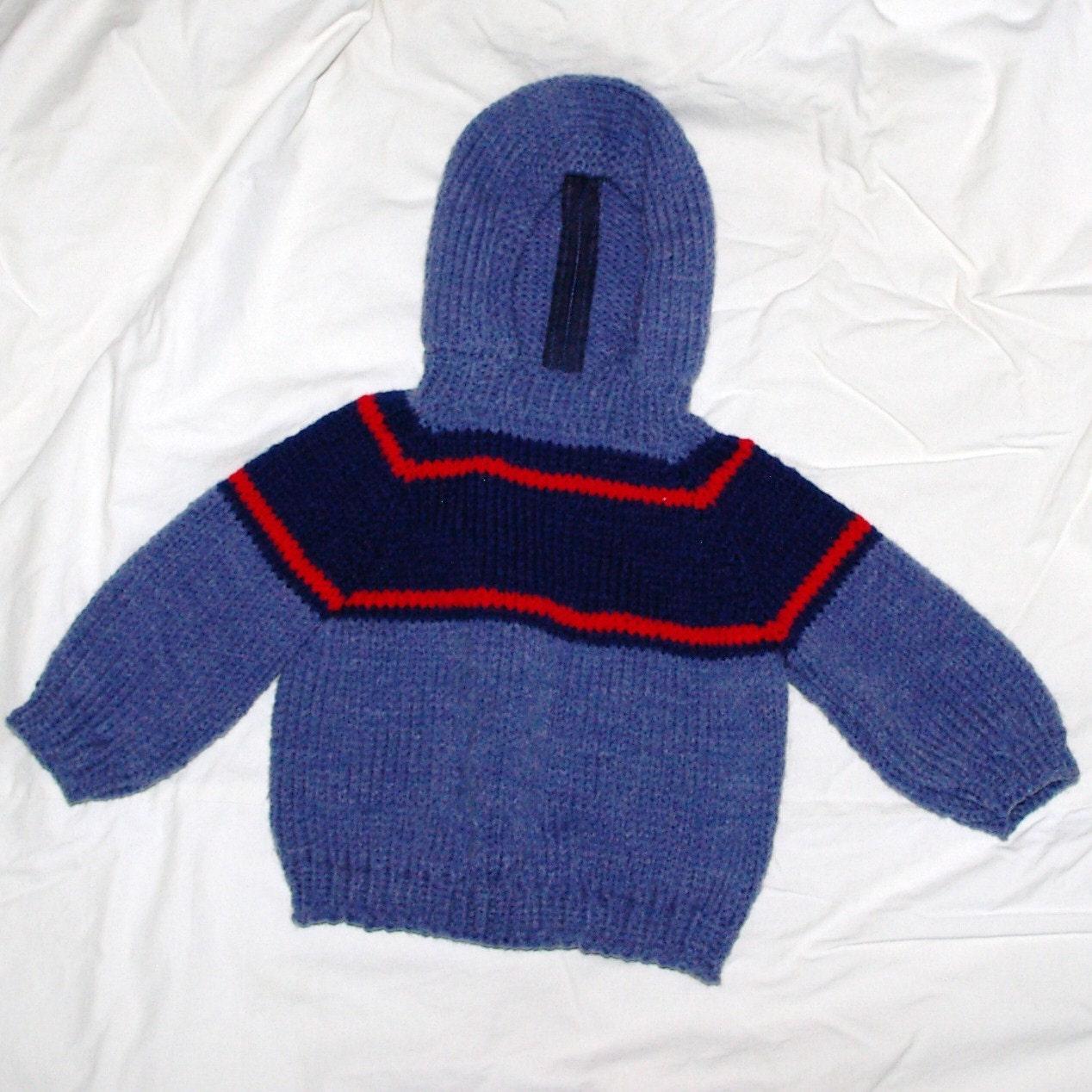 ژاکت باشلق دار عزیزم Knitted