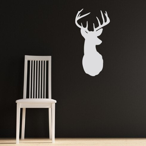 Deer with Antlers - vinyl wall art decals graphic stickers