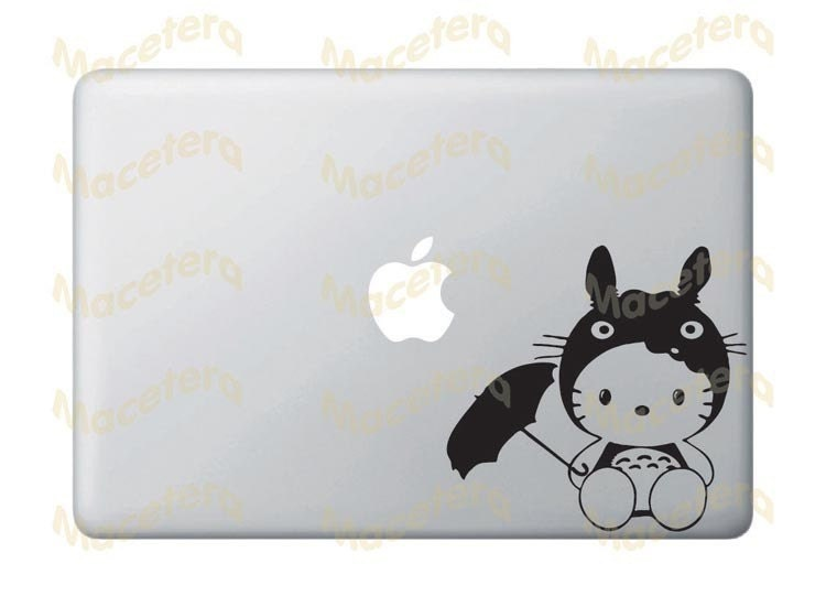 Totoro Decal. -mil premiumtotoro is japanese anime,cartoon and invite a. Hello Kitty in Totoro Costume - Macbook / Laptop / Wall Vinyl Decal