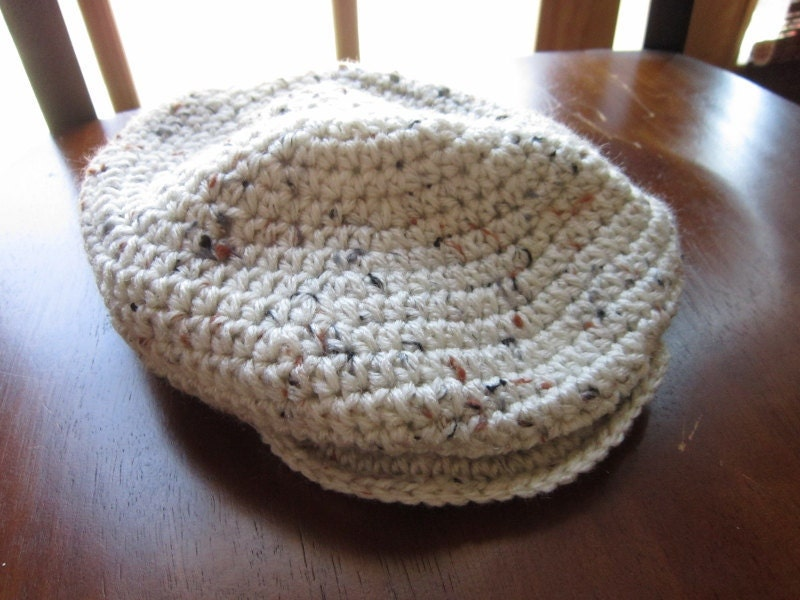 CROCHETED NEWSBOY HAT | Crochet For Beginners