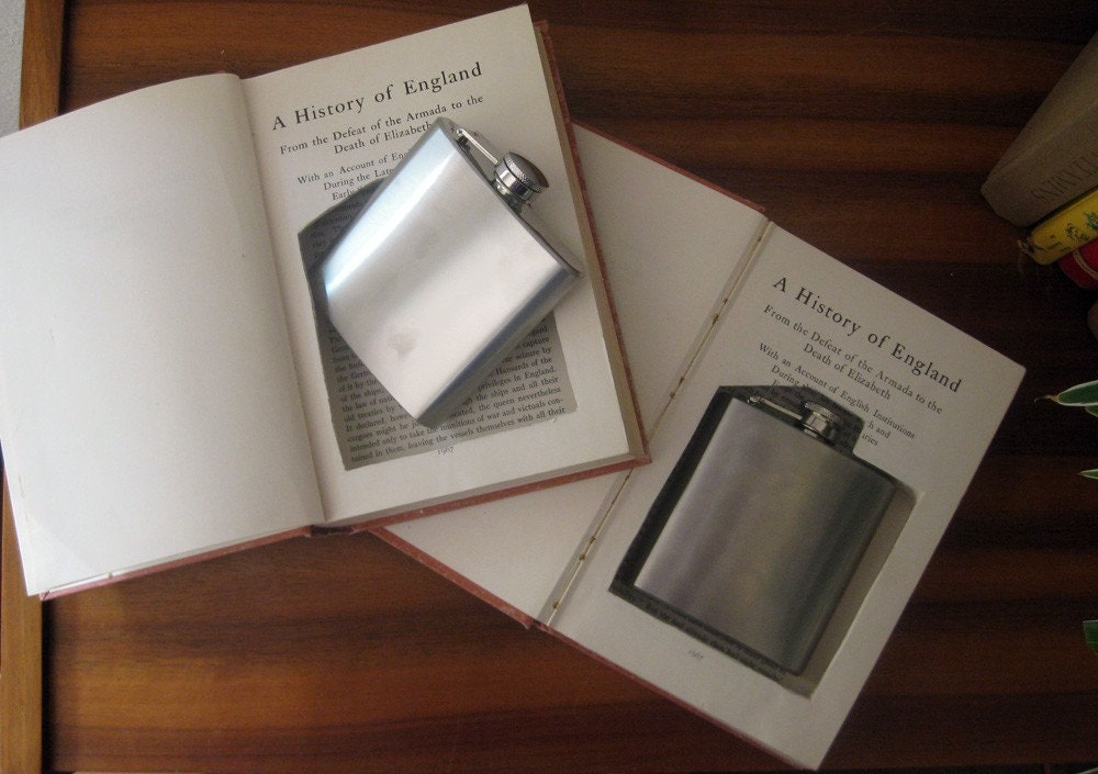 hollow book double flask safe set ''HISTORY OF ENGLAND''