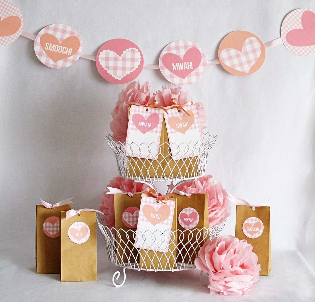 Mwah Printable Valentines Day Party