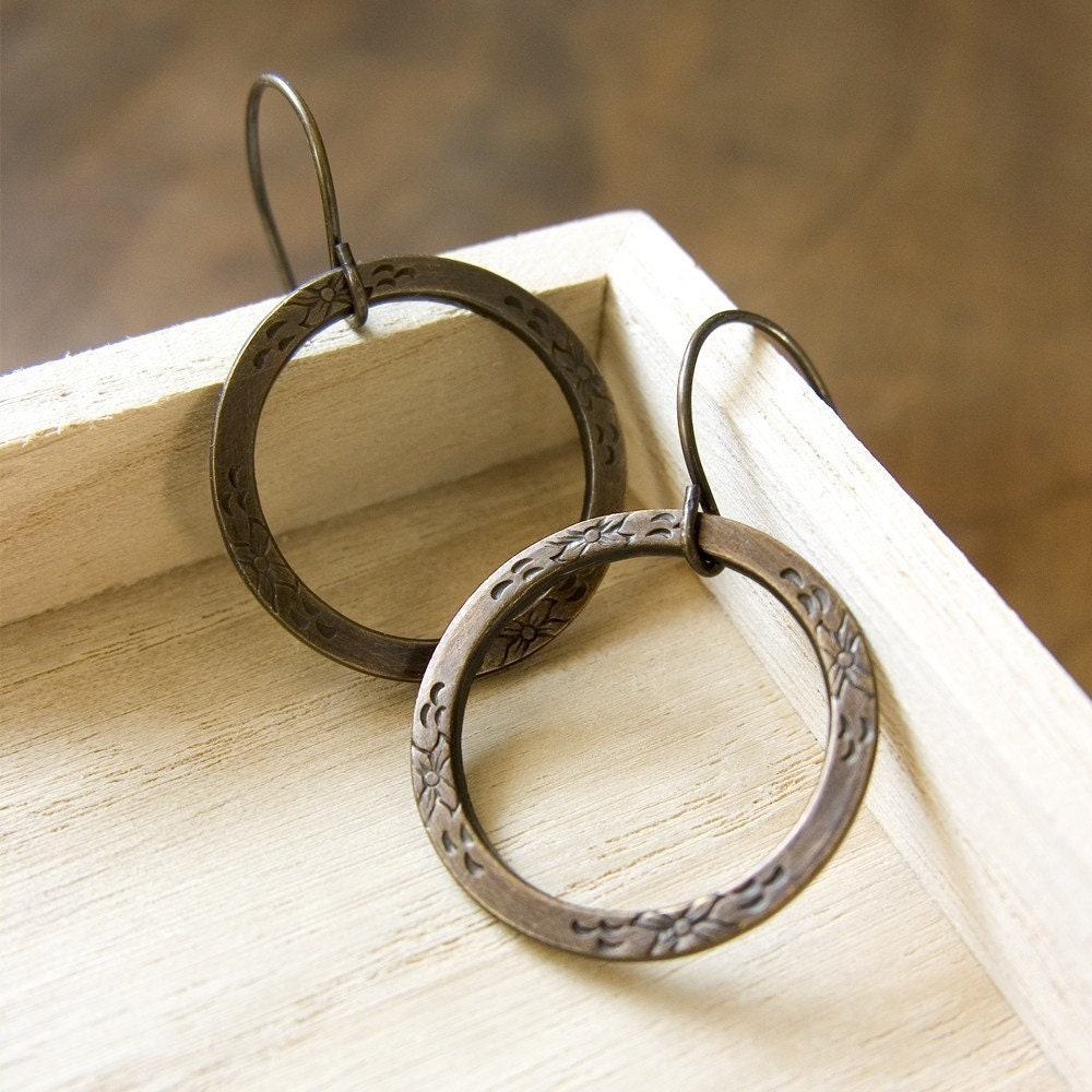 Wear Everywhere Hoops - Brass or Silver