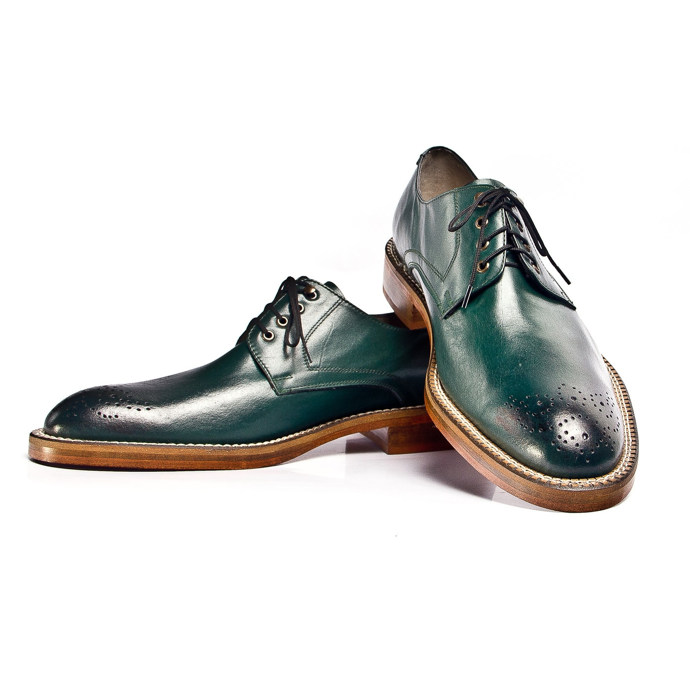 Items Similar To Green Leather Derby Oxford Shoes. FREE WORLDWIDE SHIPPING On Etsy