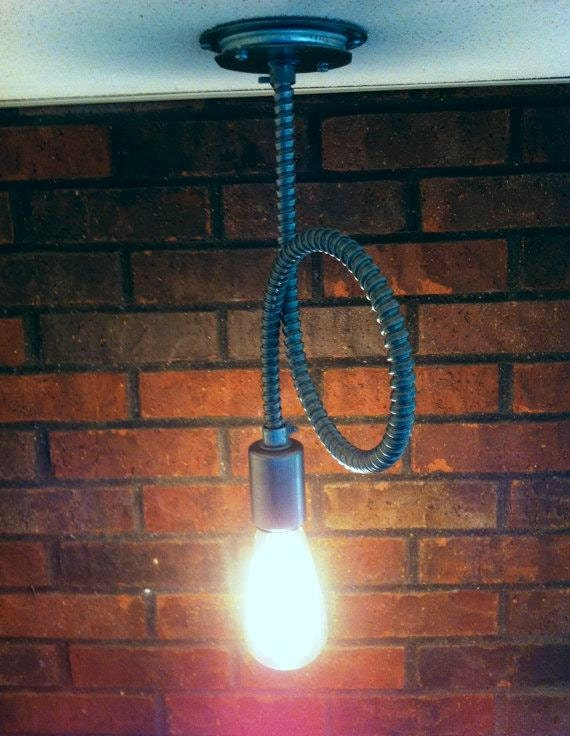Flex conduit pendant light very raw rustic modern by for Very modern lighting