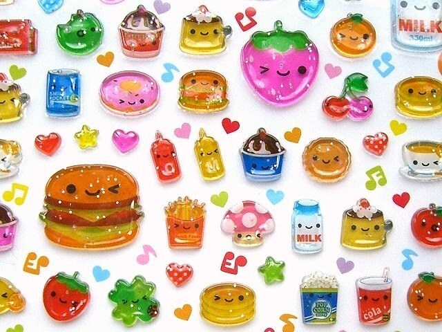 Kawaii Cute Japanese Stickers By Q-LiA Smile Bit (S639 ...