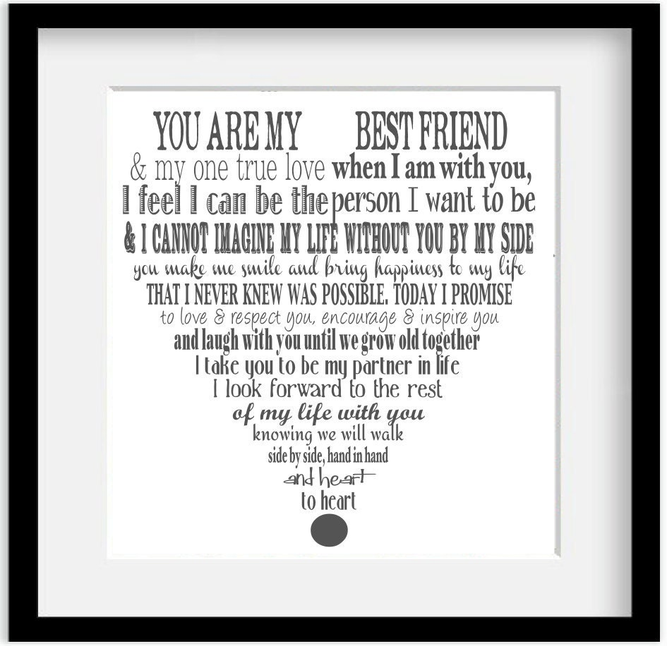 Items Similar To Personalized Wedding Vows Modern Typography Giclee Art Print 11x14 On Etsy