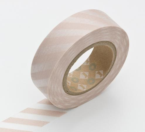 Washi Tape, STRIPES, Flesh, Soft Pink, Momo Japanese, MT Tape, Modern Tape, Wedding, Birthday - ModernTape