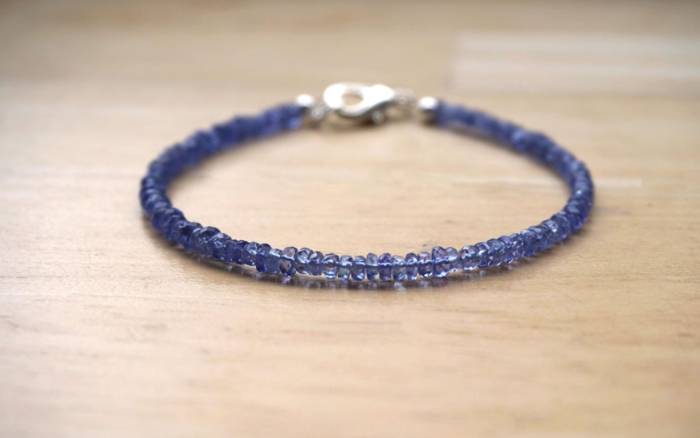 Tanzanite Bracelet (AAA Quality) December Birthstone Gemstone Bracelet Tanzanite Jewelry Gemstone Jewelry Silver Gemstone Bracelet
