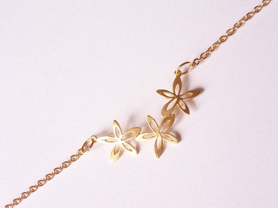 dlicat bracelet bracelet simple de bracelet armreif fleur or bracelet fleur bracelet dainty minimaliste bijoux