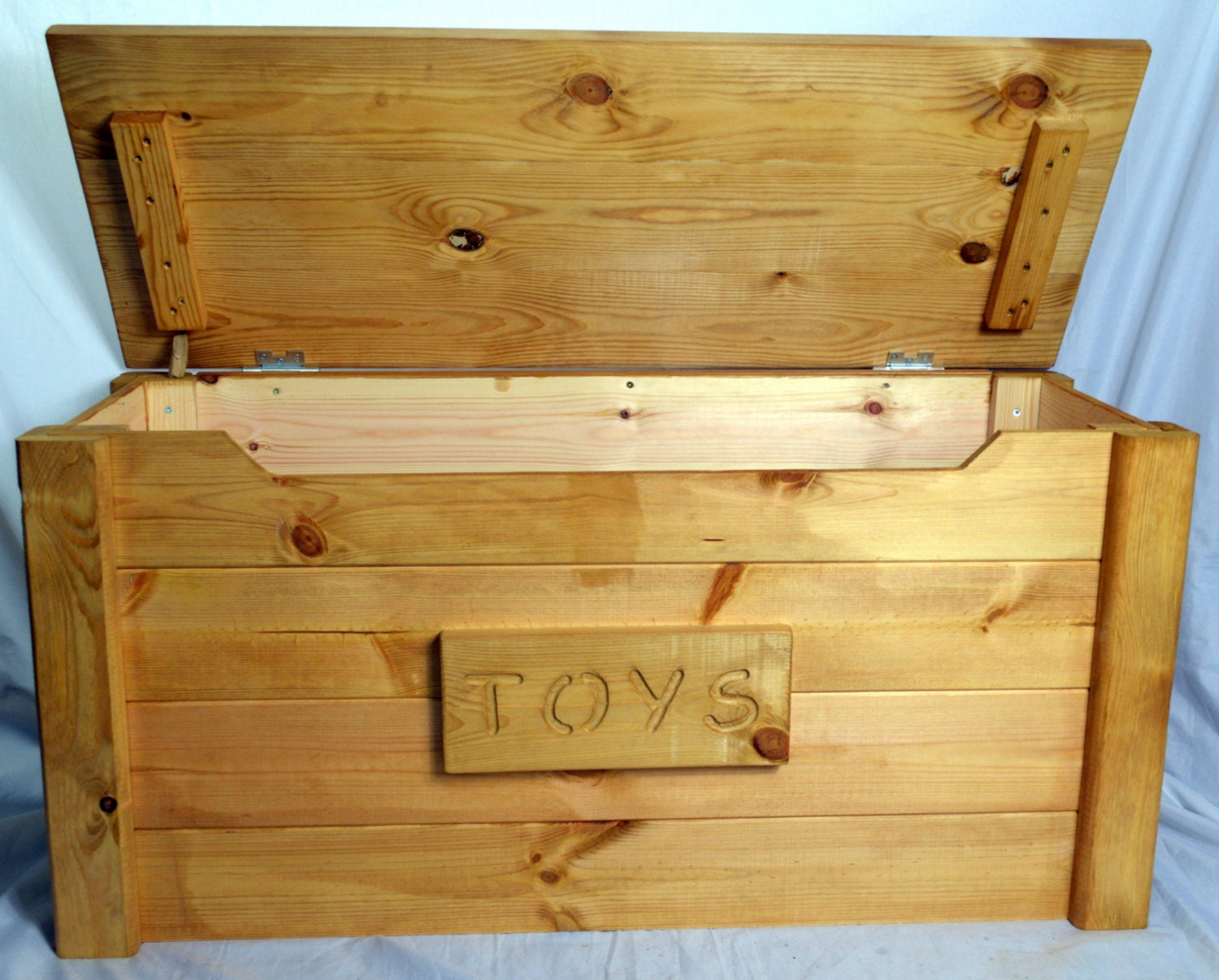 Handcrafted Wooden Rustic Pine Trunk Chest Toy Box Shabby Chic Antique Pine Personalised  Extra Large