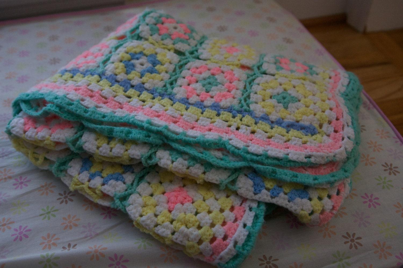 Intricate Crochet Baby Blanket Pattern : Handmade vintage Baby afghan blanket intricate by ...