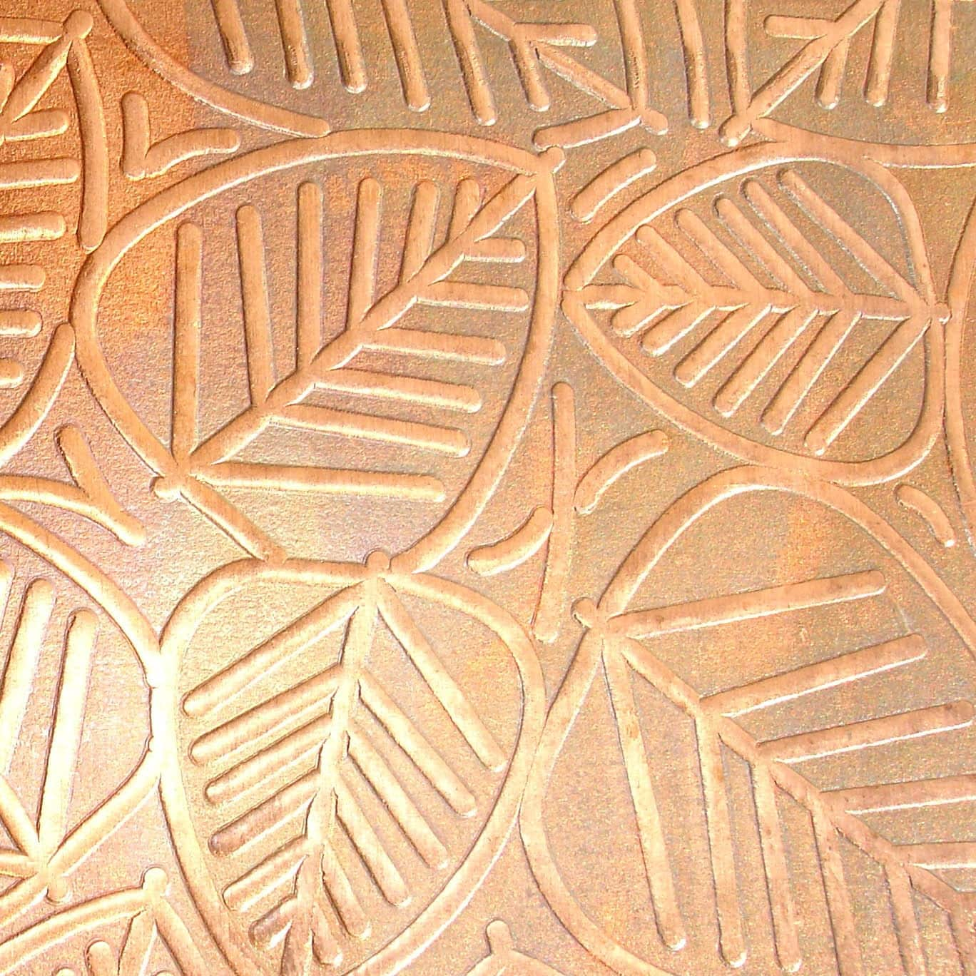 Textured Copper Sheet Metal Leaves Patina Copper By