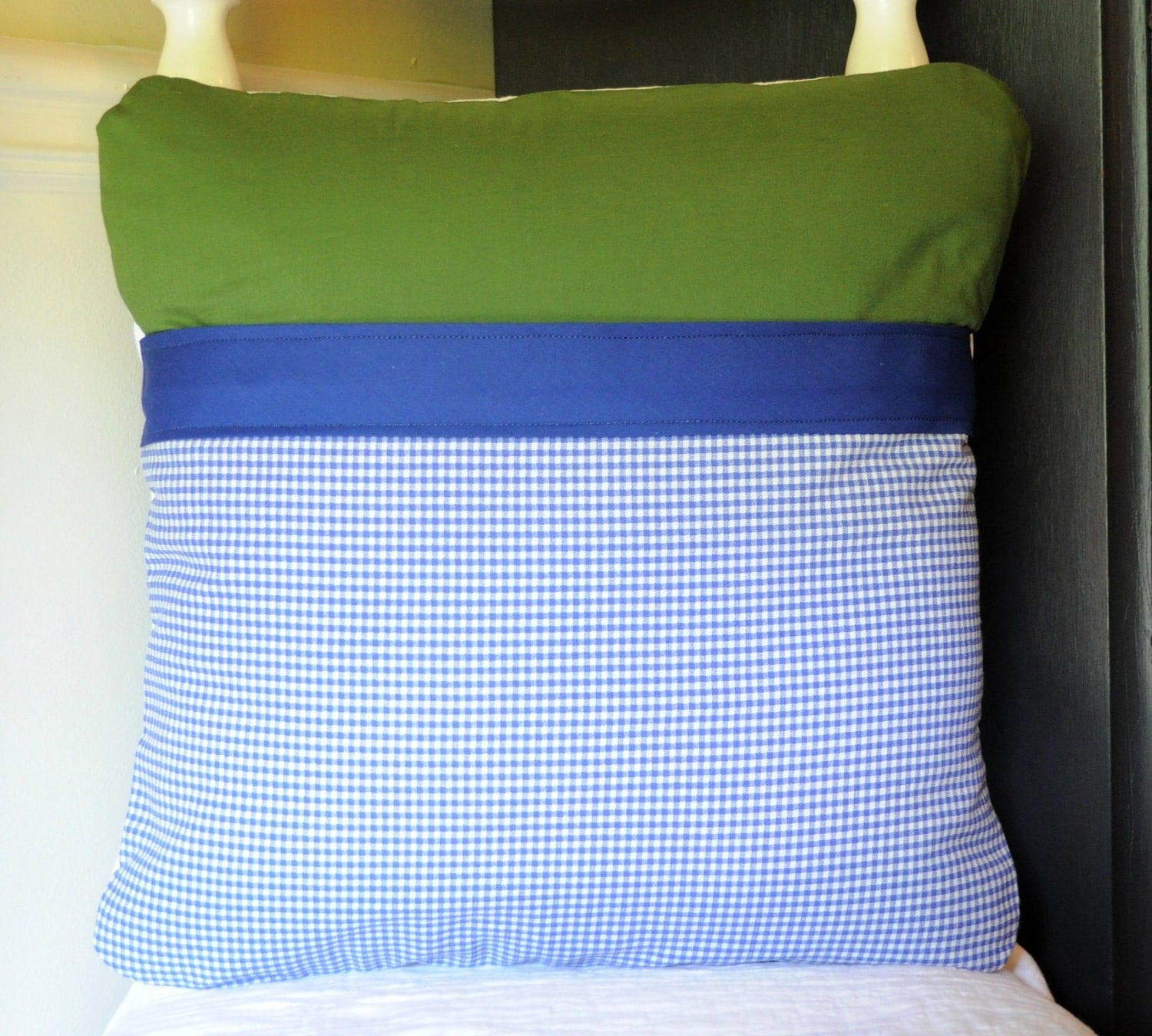 Bible Memory Verse Pillow Cover, Blue and Green
