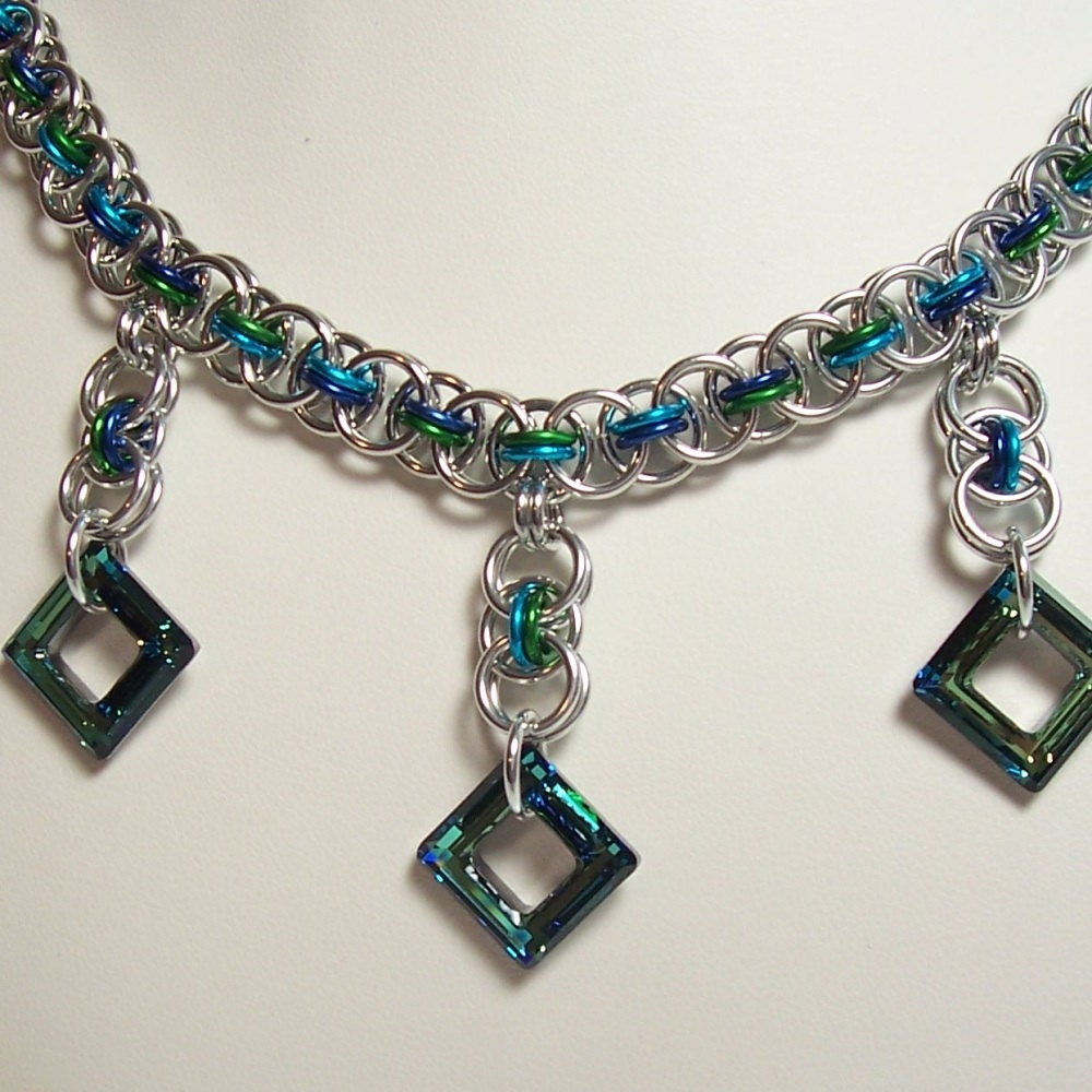 items similar to helm weave necklace chainmaille jewelry