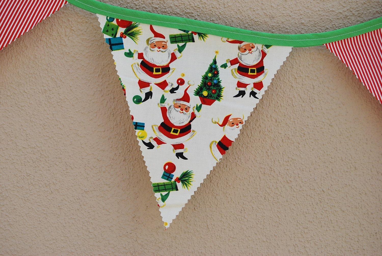 Vintage Santa Christmas Banner