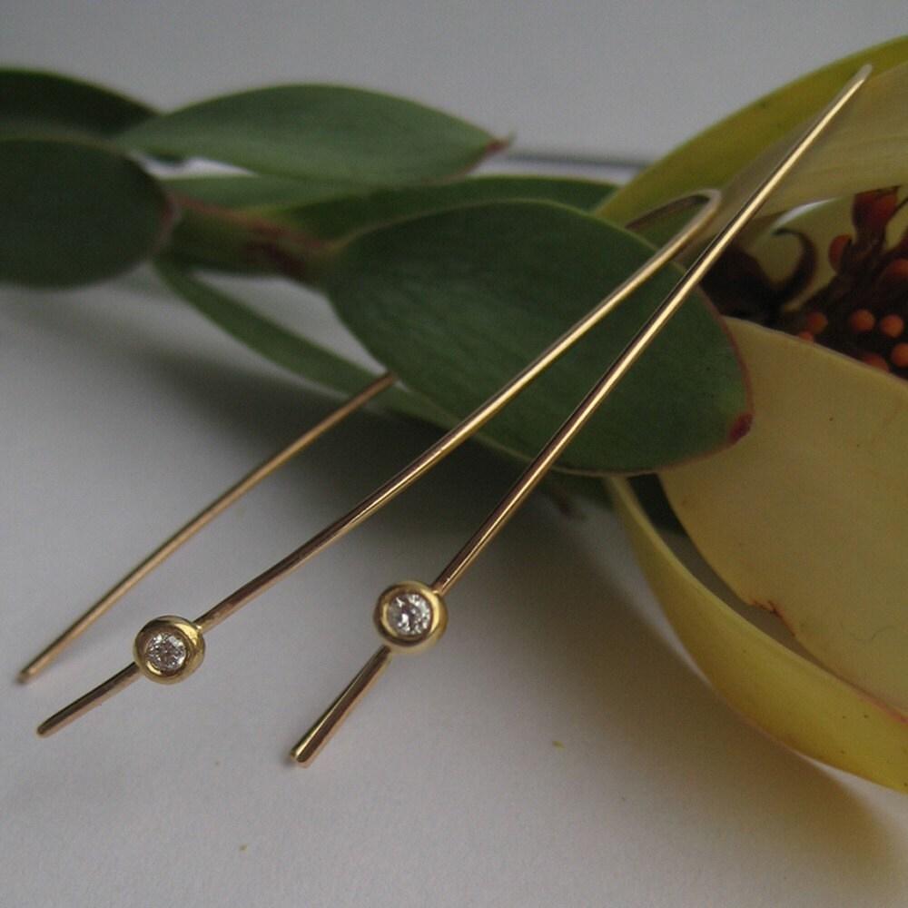 seed stick diamond earrings