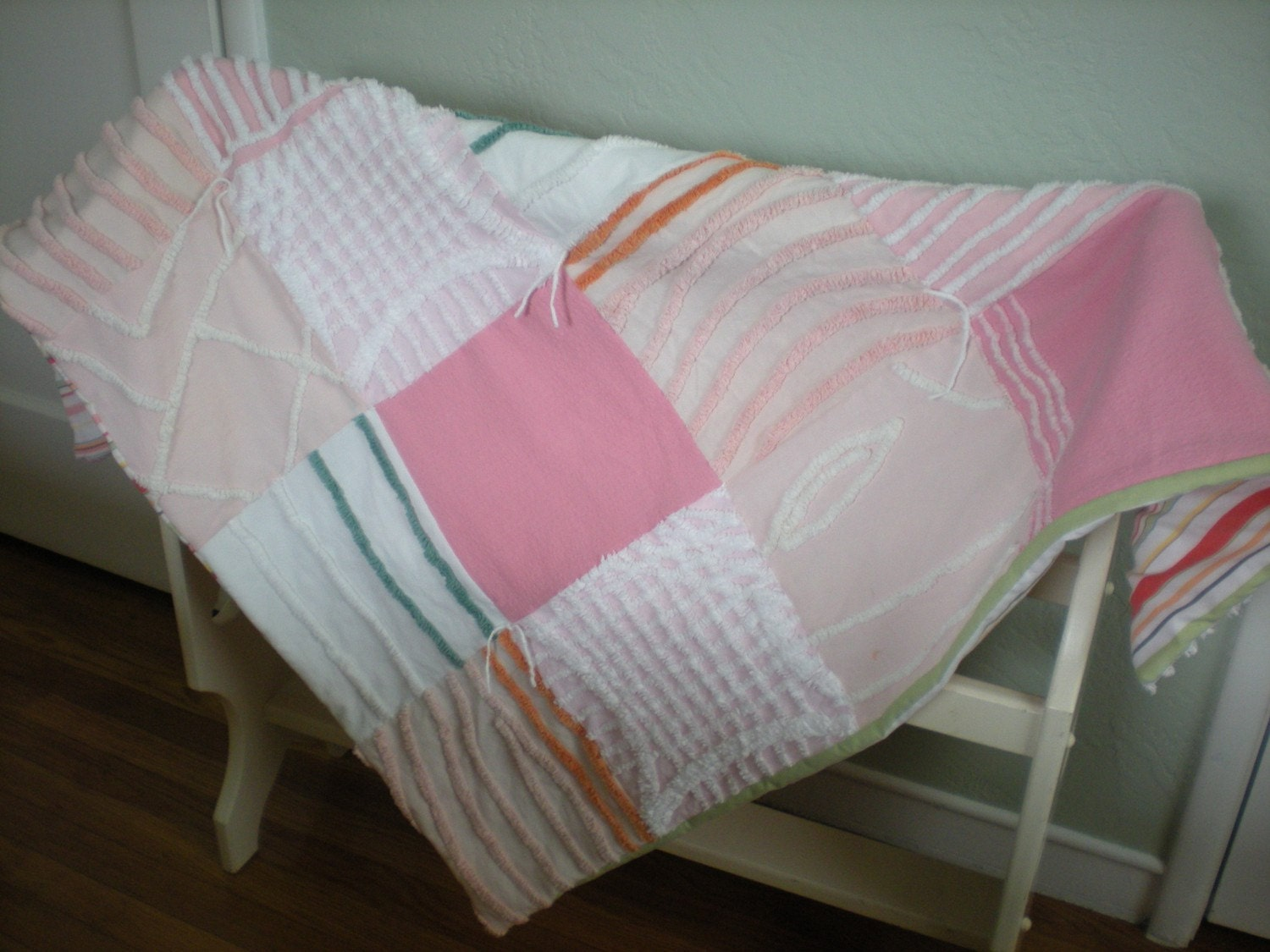 Valentina, the Chenille Chic Wonder Quilt RESERVED FOR TIGERWAVES