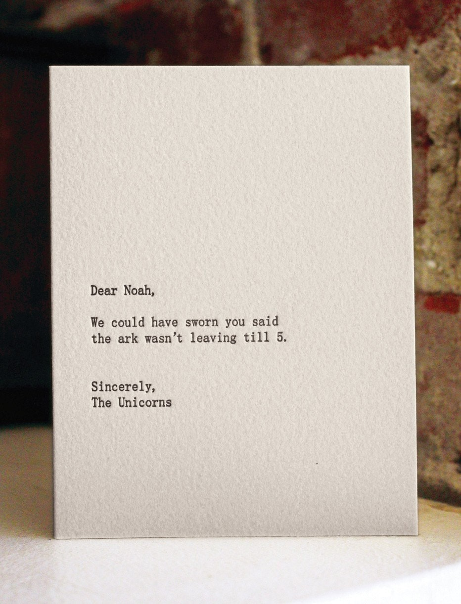 letter press card